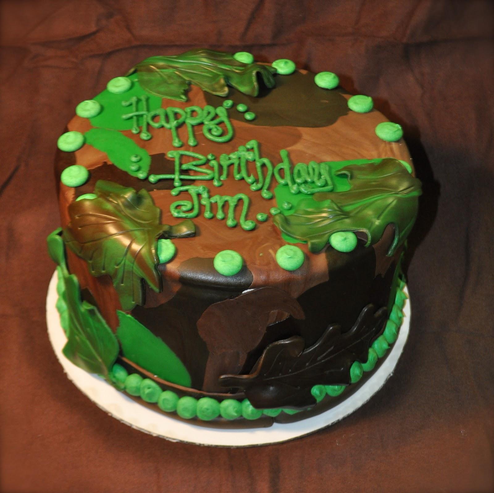 Leahs Sweet Treats Camo Cake
