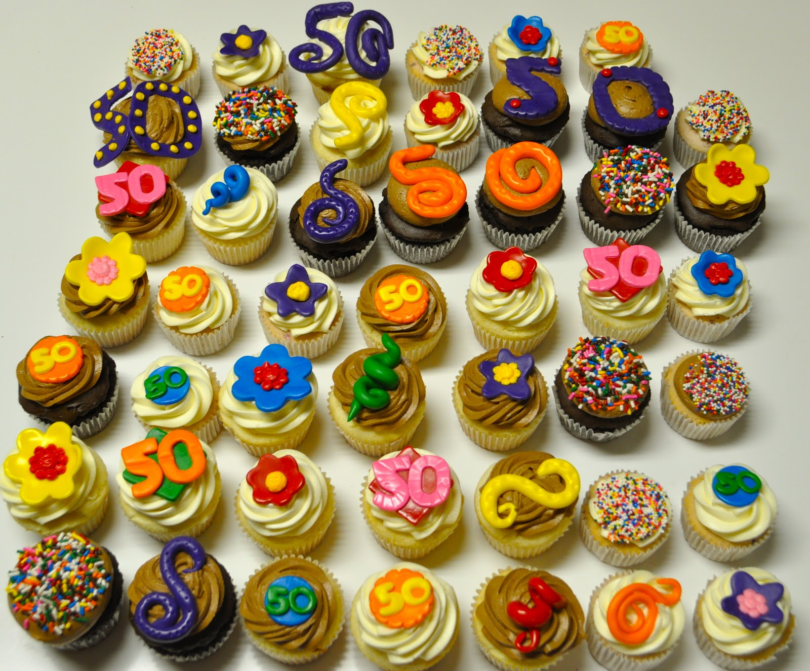 50th Birthday Cupcakes  sc 1 st  Coolest Cupcakes & Coolest Cupcakes: 50th Birthday Cupcakes