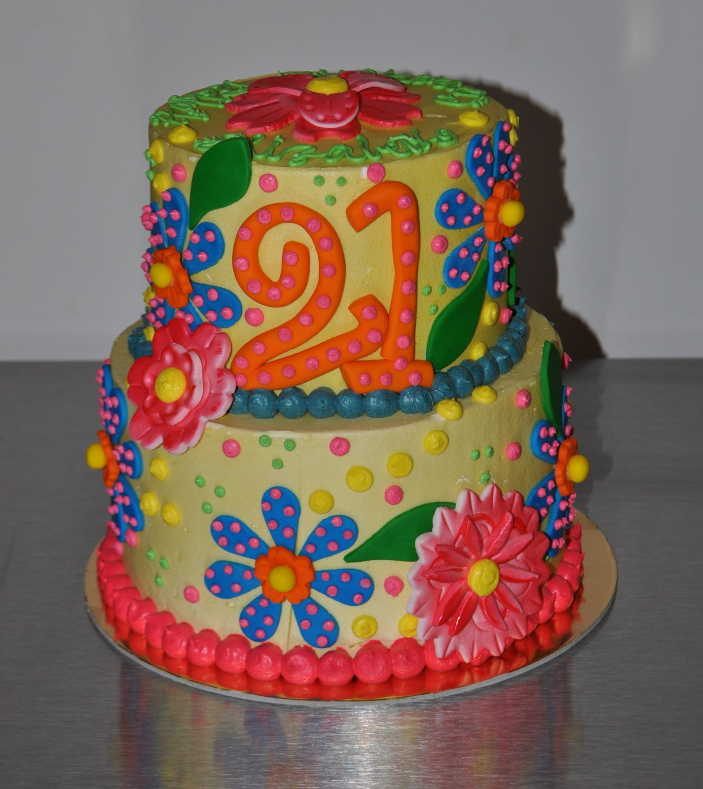 Leahs Sweet Treats Elizabeths 21st Birthday Cake