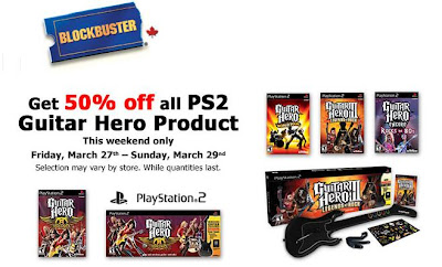 Blockbuster Canada PS2 Guitar Hero Promo