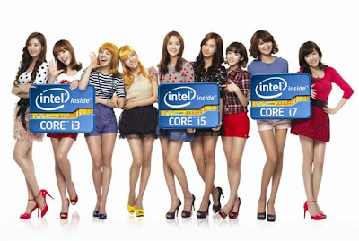 SNSD - Intel Asia's models