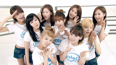 SNSD poster for Intel endorsement