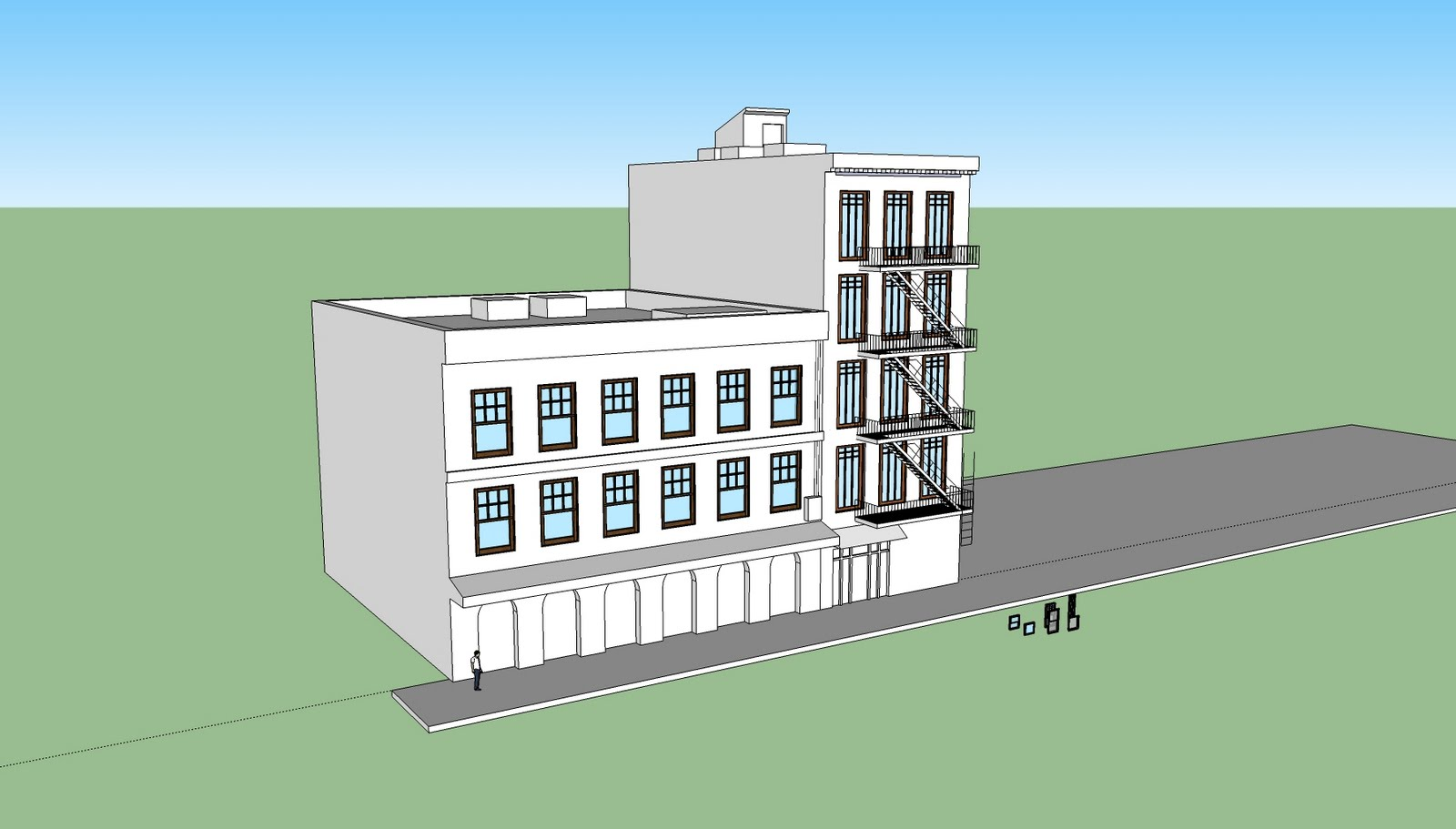 Brian churilla sketchup street progression for Sketchup building