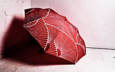 Marimekko Red Kiku Mini Umbrella
