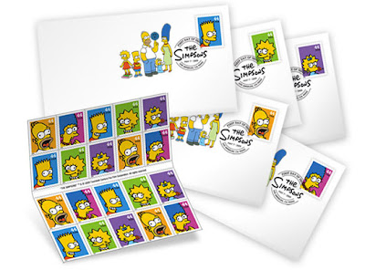 The Simpsons USPS Stamps