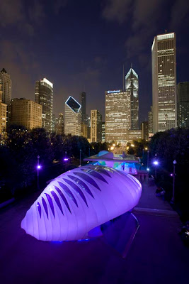 Burnham Pavilion by Zaha Hadid Architects at Millennium Park, Chicago
