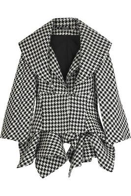 Alexander McQueen Houndstooth Folded Jacket