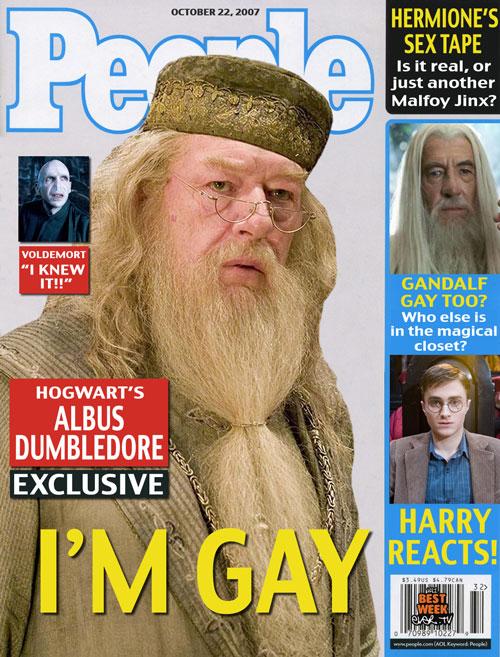 JK admite que Dumbledore es Gay y Sir Michael