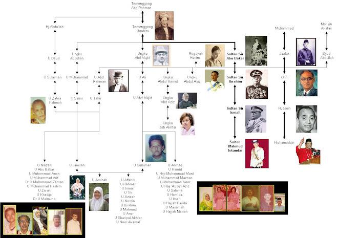 genealogy of Ungku Aminah & Idris