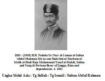 Sultan Abdul Rahman Ibni Raja Muhammad Yusoff Al-Mahdi [Lingga]