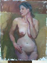 Nude oil sketch