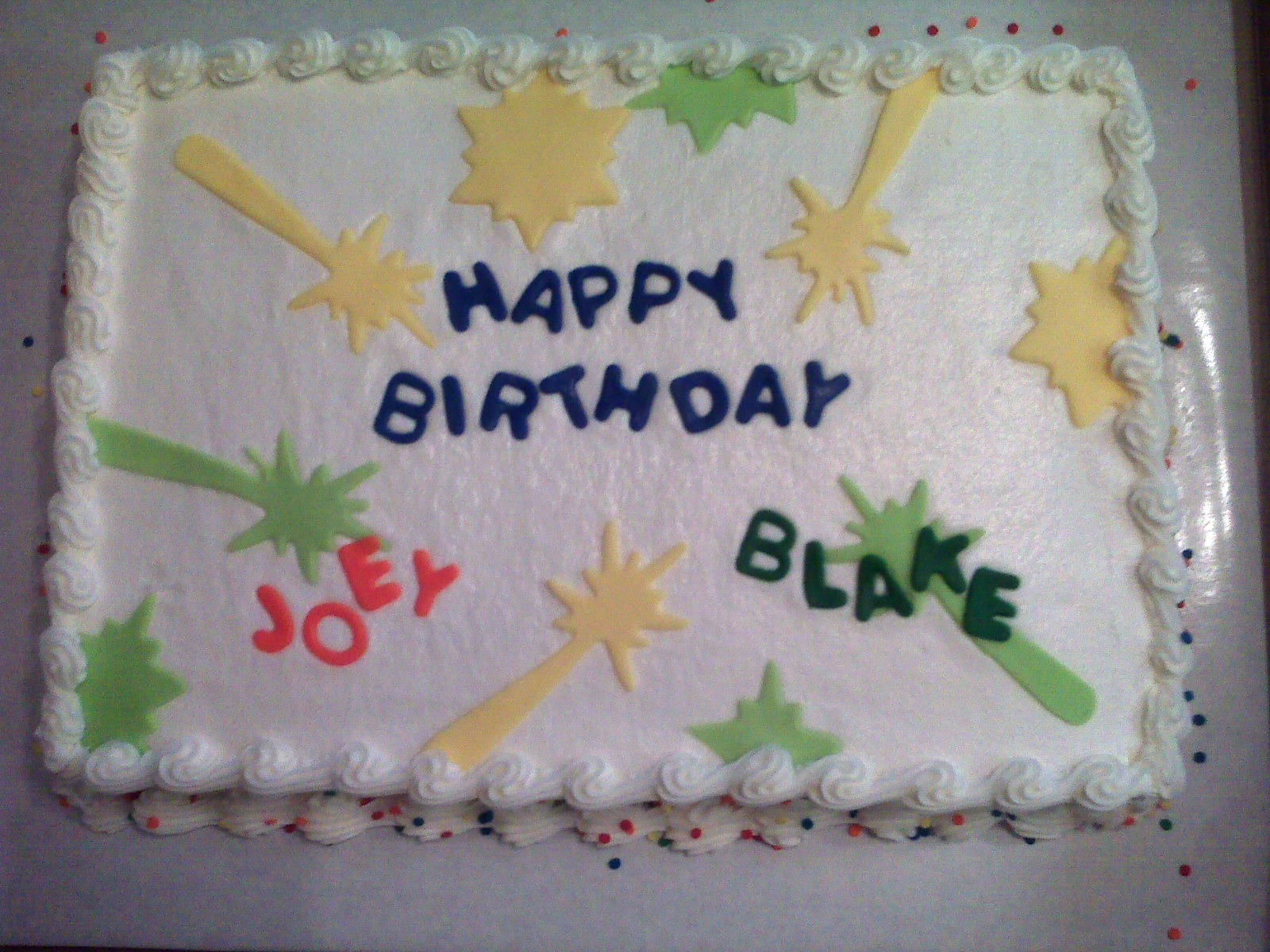 Cake Scraps Laser Tag Birthday Party Cake