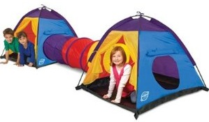 The Discovery Kids 3pc Adventure Play Tent Set consists of two tents and one collapsible tunnel which simply slips into the circular openings on the side ...  sc 1 st  3 Garnets u0026 2 Sapphires & 3 Garnets u0026 2 Sapphires: TKD Kid Review: Discovery Kids 3-Piece ...