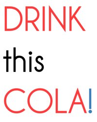 Submitting to Drink This Cola!