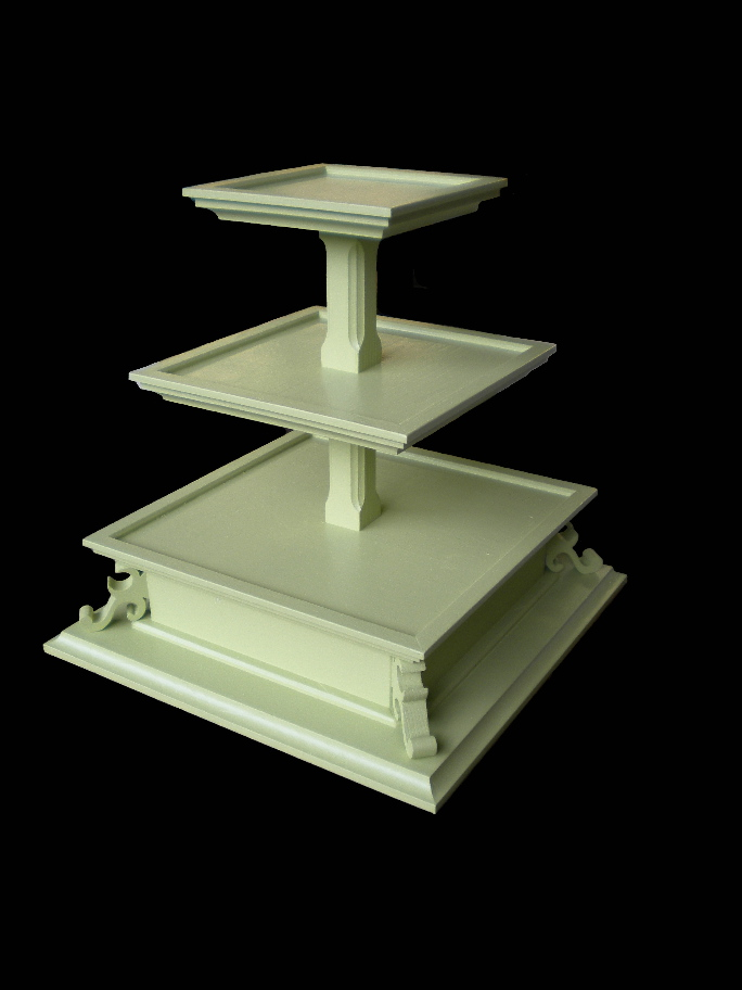 A I 39ve developed what I call standard cupcake and cake stand designs