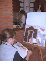 Silvi pintando