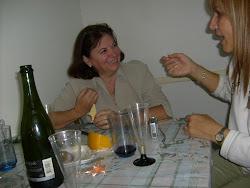 Primer noche en Mardel, gran charla de sobremesa, despues del brindis