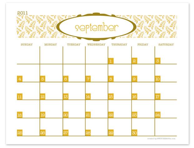 Monthly Calendar Print Out : U calendar  new template site