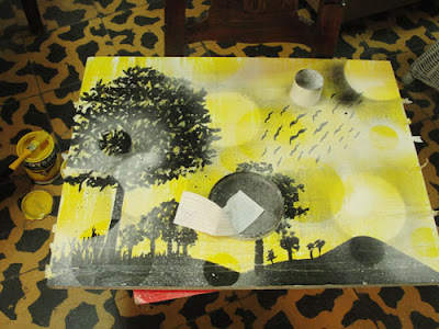 diy art, diy artwork, yellow art, switcheroom