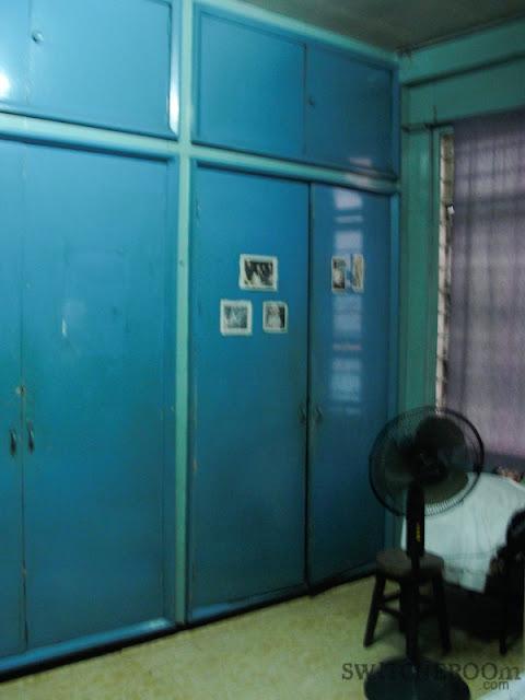 bedroom makeover, aqua bedroom, tropical curtain, switcheroom