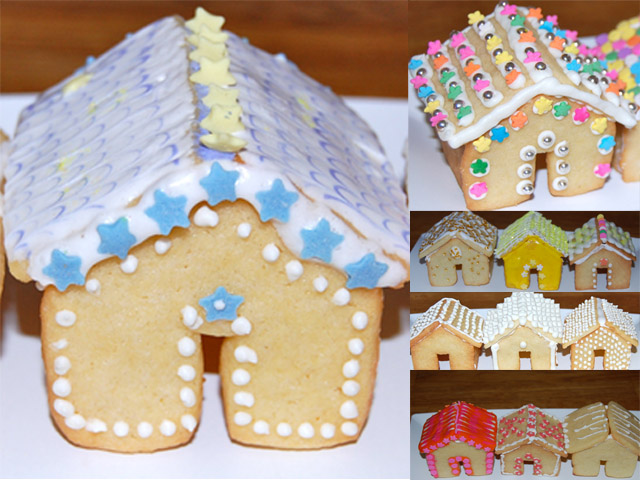 Miniature Gingerbread Style Sugar Cookie Houses and Christmas ...