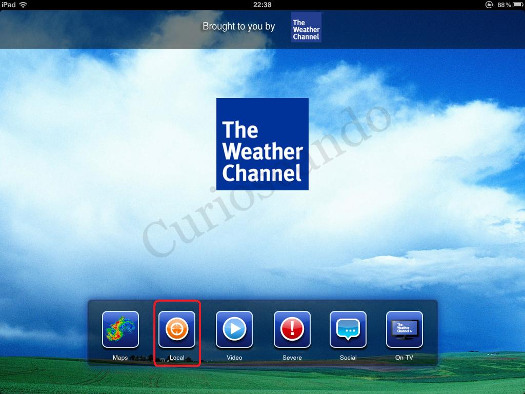 the weather channel y accu weather en tu ipad