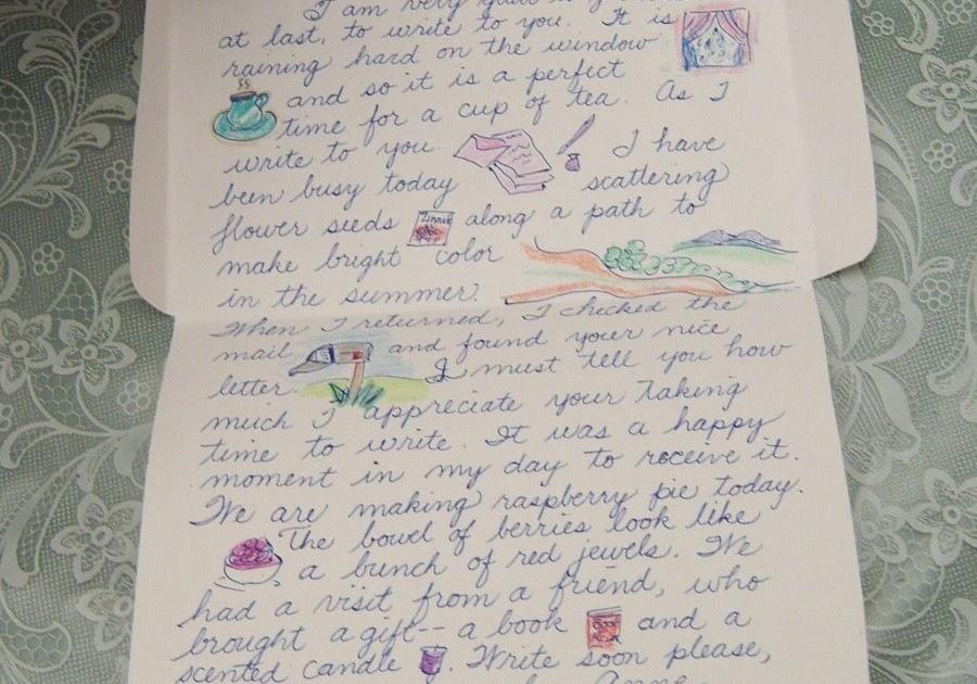 Home Living: Friendship Letter