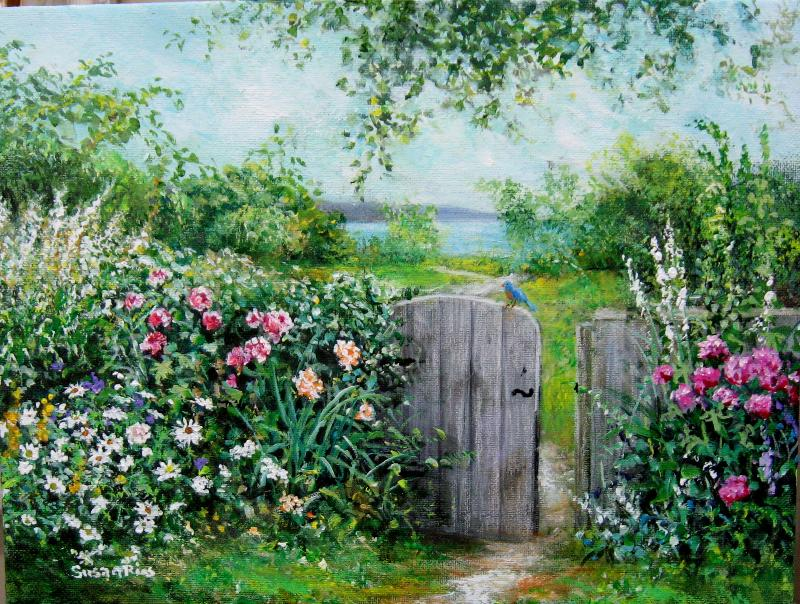 Art susan rios on pinterest garden cottage artists and paintings - Serene traditional cottage in natural theme ...