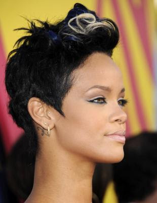 rihanna haircut. rihanna haircut short.