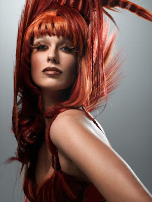 reddish orange hair dye. Orange hair color