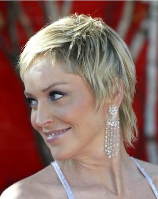 sharon stone hairstyle. haircuts: Sharon Stone