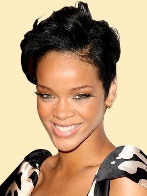 rihanna short hairstyles. RIHANNA SHORT HAIR STYLES 2011