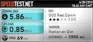 Скорость моего Интернета