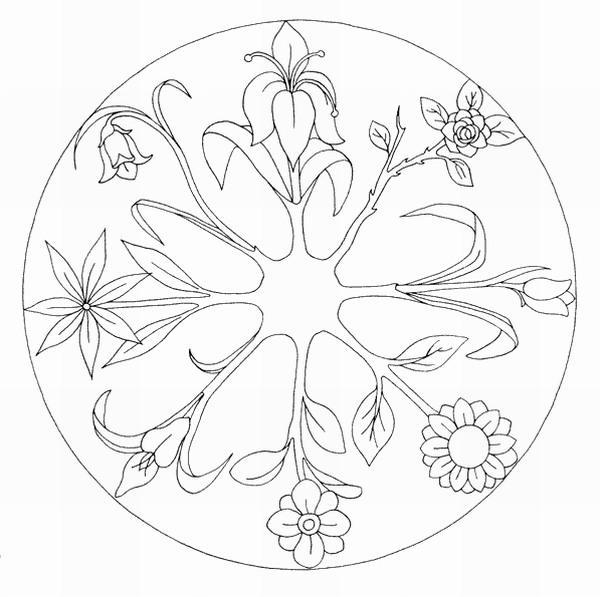 Mandalas para pintar mandalas florales - Dessin complique a colorier ...