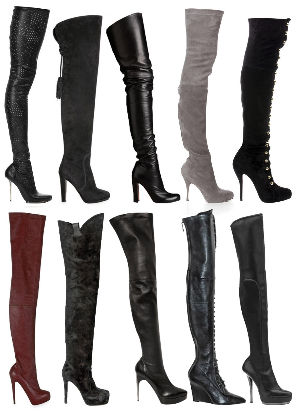 Over The Knee Thigh High Boots - Boot Hto