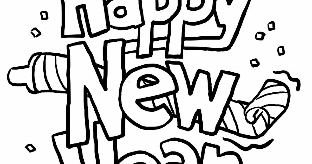 new year u0026 39 s day  new year coloring pages
