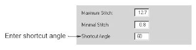 Adjusting shortcut angle values