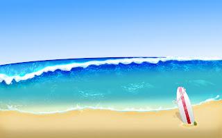 Zomer plaatje met strand