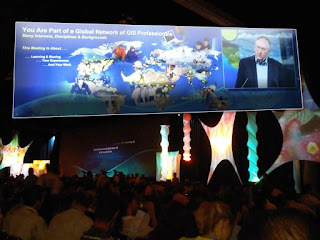 ESRI 2009 User Conference - Jack Dangermond speaks during the Plenary Session