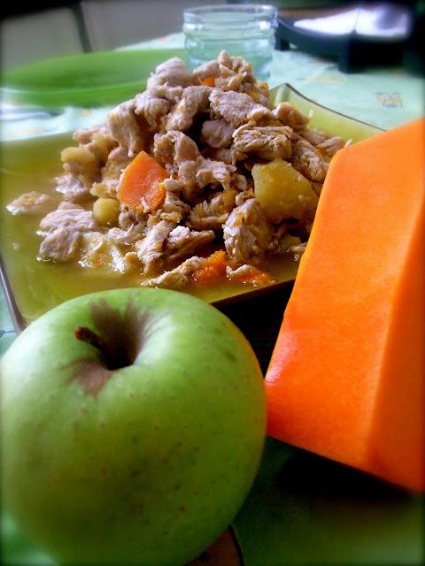 pavo con manzana, una receta Thermomix