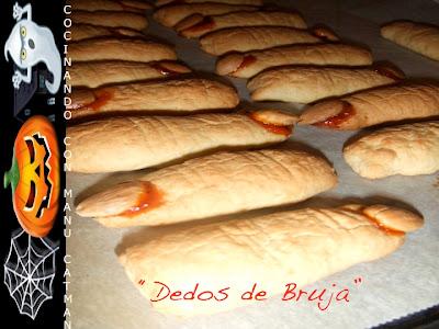 receta de galletas dedos de bruja