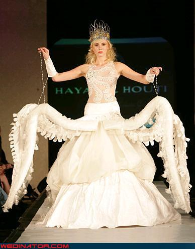 since I can 39t find a source for this bizarre octopus wedding gown