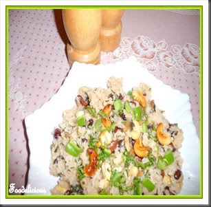 [Pari+Kidney+bean+mushroom+cashew+risotto]