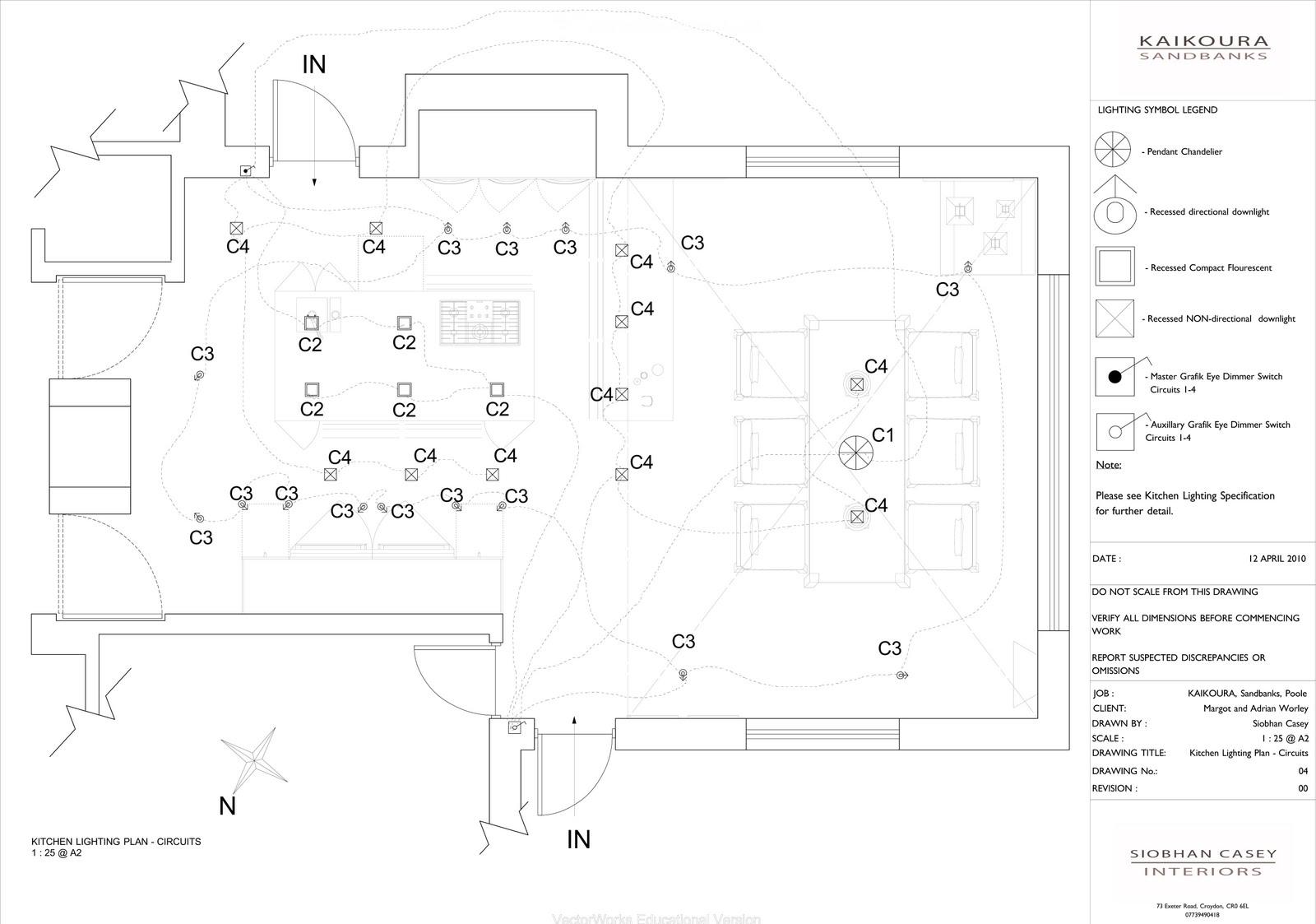 Siobhan casey portfolio 4 for Kitchen lighting plan