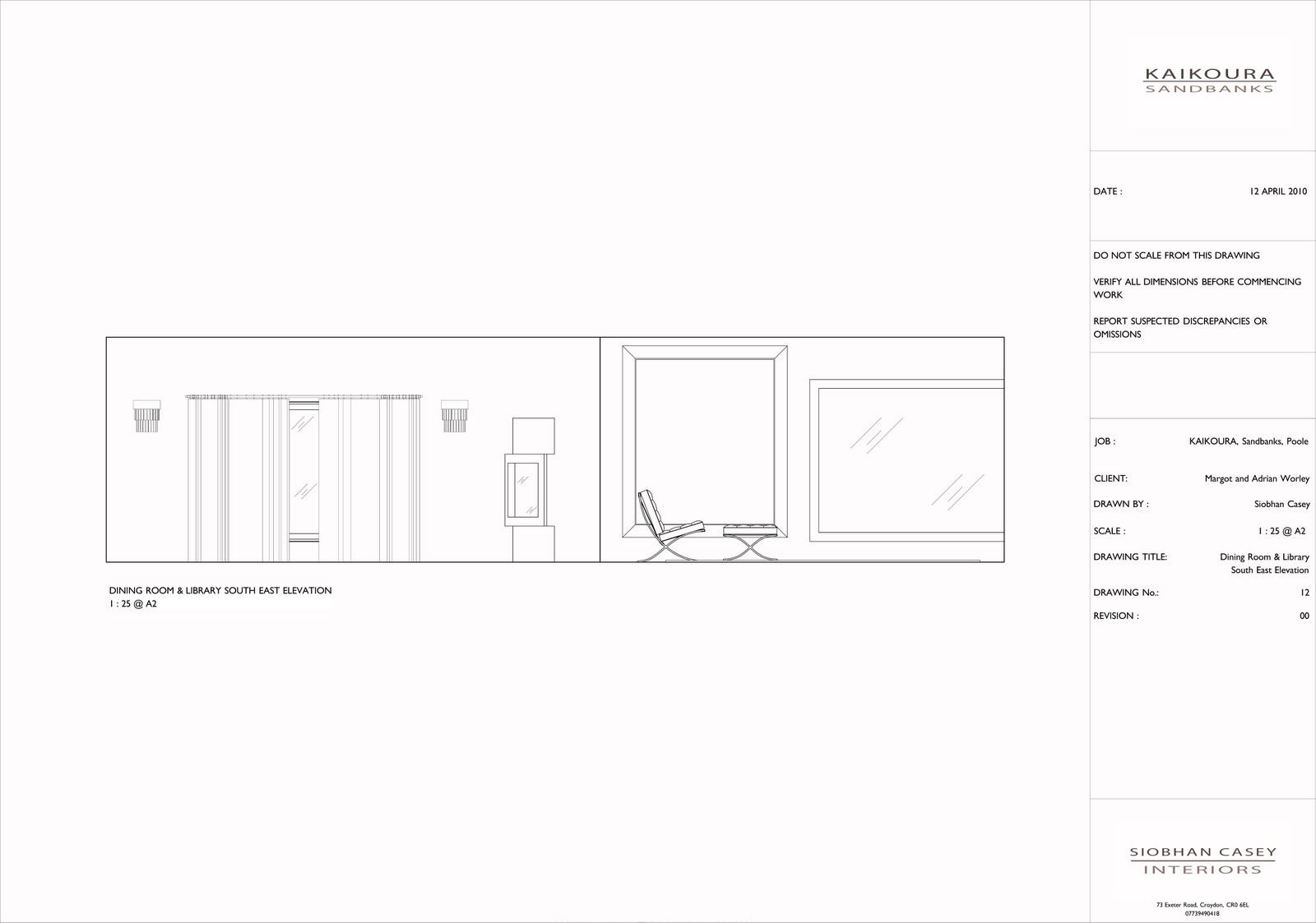 Siobhan casey portfolio 4 for Dining room elevation