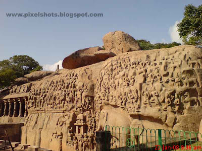 arjuna's-penance,huge-rock-sculpture-indian-old-rock-sculptures,pallava-sculptures,indian-rock-sculptures,protected-rocks