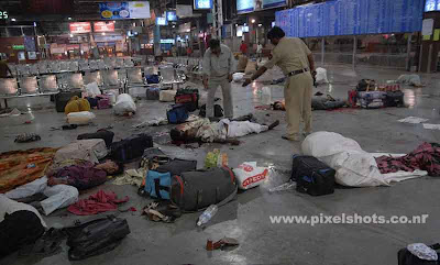 mumbai terrorist attack photographs of dead bodies laying in the shivaji public railway station after the openfire by terrorists