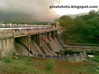 mangalam dam spillway photograph