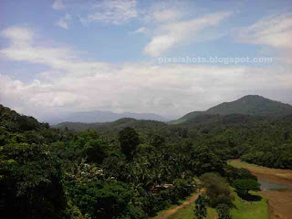 diatant view of western ghats from thenmala lookout tower,kollam,kerala,ottakkal lookout view,western ghat mountains forests
