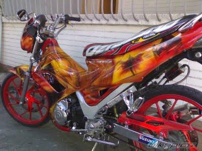 modifikasi motor satria fu 2011